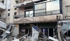 إنهيار شرفات لشقق بمبنى سكني في منطقة الحوش في صور دون وقوع إصابات