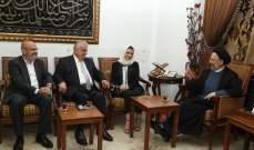 فضل الله استقبل وفدا من التيار الوطني وعدنان السيد حسين للتهنئة بالعيد
