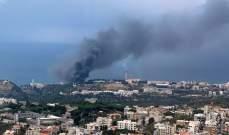 الدفاع المدني يعمل على إخماد حريق ضخم في زوق مصبح