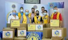 """جمعية """"الليونز"""" قدمت 30 حصة غذائية إلى العائلات الأقل حظا في منطقة النبعة"""