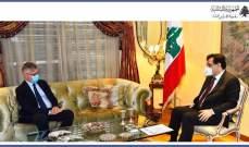 دياب التقى لاكروا وأكد التزام الحكومة بالقرار 1701