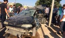 قتيل وجريح نتيجة تصادم بين سيارتين على طريق عام الكويشرة القبيات