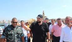 أحمد الحريري زار البرامية وعبرا وتفقد فوج إطفاء صيدا وجال على جزيرتها