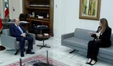 الرئيس عون عرض مع نجم لسبل تسريع عمل المحاكم ومسار التدقيق الجنائي
