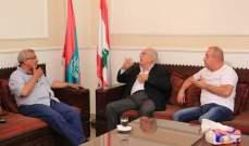سعد التقى رئيس بلدية البرامية وقائد فوج إطفاء بلدية صيدا