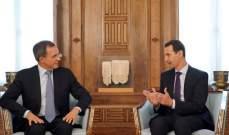 الأسد التقى وفدا من حزب التجمع الوطني الفرنسي