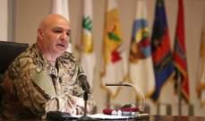 قائد الجيش: لن نسمح بأي مسّ بالاستقرار والحديث عن حالات فرار من الجيش ليس صحيحا