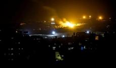 الجيش الاسرائيلي أغار على أهداف تابعة لحركة حماس جنوب قطاع غزة
