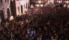 تظاهرة حاشدة في برشلونة لمؤيدي استقلال كتالونيا