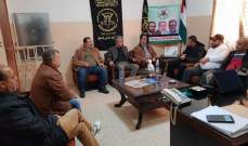 منسق العلاقات الخارجية بالجهاد الاسلامي يلتقي وفدا من لجنة حي الطيرة