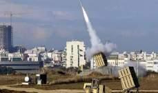 """الدفاع الإسرائيلية: تجربة محدثة لـ""""القبة الحديدية"""" توجت بالنجاح التام"""