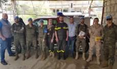 النشرة: وفد من ظباط الكتيبة الاسبانية زار مركز الدفاع المدني في بلدة شبعا