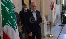 اديب يلتقي في هذه الاثناء كتلة الوفاء للمقاومة برئاسة النائب محمد رعد