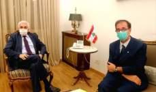 حتي عرض مع فوشيه تطورات مؤتمر سيدر وكيفية تطبيقه والتقى سفير مصر