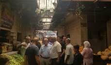 قمرالدين جال في سوق عبدالحميد وتفقد اشغال جسر نهر ابو علي