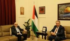 سفير فلسطين في لبنان إستقبل الامين العام المساعد لجامعة الدول العربية