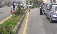 النشرة: الصليب الأحمر اقام حواحز لتوعية السائقين في حاصبيا