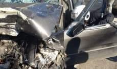 ثلاثة جرحى جراء حادث سير على طريق عام البياضة