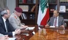الرئيس عون التقى كبير مستشاري وزارة الدفاع البريطانية وعرض معه الاوضاع العامة