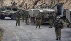 الجيش الإسرائيلي أعلن أنه يختبر نظاما للتنبيه من الصواريخ على الحدود اللبنانية