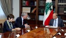عون: لضرورة الفصل بين عودة النازحين وبين الحل السياسي للأزمة السورية