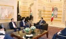 دياب التقى وزير خارجية قبرص والسفير الياباني ووفدا من المجلس الاقتصادي والاجتماعي