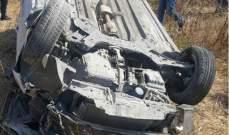 النشرة: 3 جرحى نتيجة حادث سير على أوتوستراد الجنوب وانقلاب سيارة