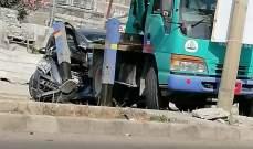 النشرة: 4 جرحى جراء حادث سير على اوتوستراد زفتا النبطية