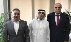 القصيفي استقبل مدير مكتب وكالة الأنباء السعودية بلبنان وعرض معه العلاقات الاعلامية