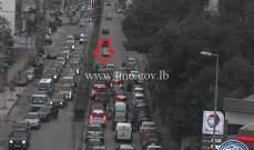 التحكم المروري: حادث مروري على طريق الحايك باتجاه المكلس