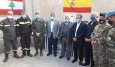 فقيه: تسلمت من بلدة راشيا الفخار معدات ولوازم طبية للوقاية من كورونا
