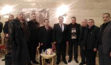 لقاء الاحزاب والقوى والشخصيات الوطنية اللبنانية يزور السفارة العراقية