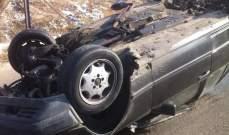 إصابة 3 اشخاص بجروح بعد انقلاب سيارتهم على أوتستراد الصفرا بكسروان