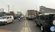 التحكم المروري: تجمع للشاحنات على طريق عام المديرج- ضهر البيدر
