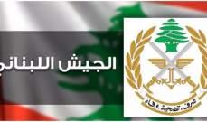 الجيش:توقيف 520 شخصا بجرائم مختلفة وضبط 90 سلاحا خلال شهر تشرين الأول