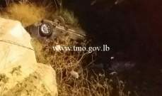 قتيل وجريحان نتيجةتدهور سيارة فجرا على جسر الكازينو مفرق أدما