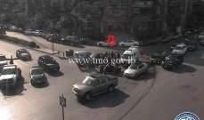 جريح نتيجة تصادم بين سيارة ودراجة نارية في وسط بيروت عند تقاطع البورش
