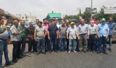 النشرة: أهالي سرعين الفوقا قطعوا طريق عام بعلبك-زحلة احتجاجا على انقطاع المياه