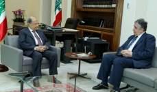 الرئيس عون بحث مع الوزير السابق ناجي البستاني التطورات المحلية الراهنة