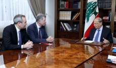السفير مور أكد التزام بريطانيا مساعدة لبنان ودعمها تأليف حكومة جديدة