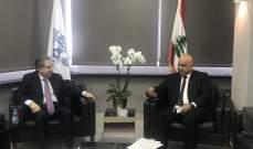 وزني بحث مع مسؤول بالبنك الدولي دعم لبنان بموضوع مكافحة الكورونا ومسألة تمويل التجارة