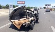 النشرة: جريح نتيحة حادث سير على طريق دامور وزحمة سير بالمحلة