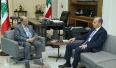 الرئيس عون التقى رئيس المجلس الدستوري طنوس مشلب وعرض معه لعمل المجلس
