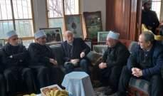 جنبلاط زار رئيس مؤسسة العرفان في دارته في خريبة الشوف