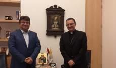 بول كنعان التقى السفير البابوي بلبنان: قوة لبنان من قوة الموارنة فيه