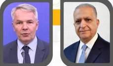وزير الخارجية العراقية لنظيره الفنلندي: العراق لن يسمح بأن يكون ساحة حرب
