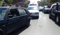 النشرة: جريحة في حادث صدم في صيدا