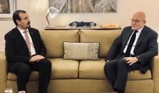 سلام التقى سفير الحزائر في لبنان عبد الكريم ركايبي