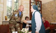 قائد القطاع الغربي لليونيفيل زار مدرسة  القلبين الأقدسين في عين إبل