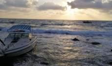 الدفاع المدني: إنقاذ 6 أشخاص من الغرق بعد تعطل محرك زورقهم مقابل شاطئ البياضة